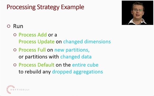 Chris discusses cube processing strategy examples