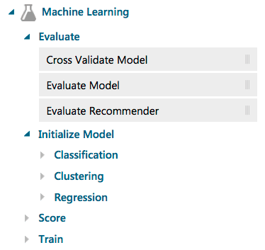 Azure ML Machine Learning task groups