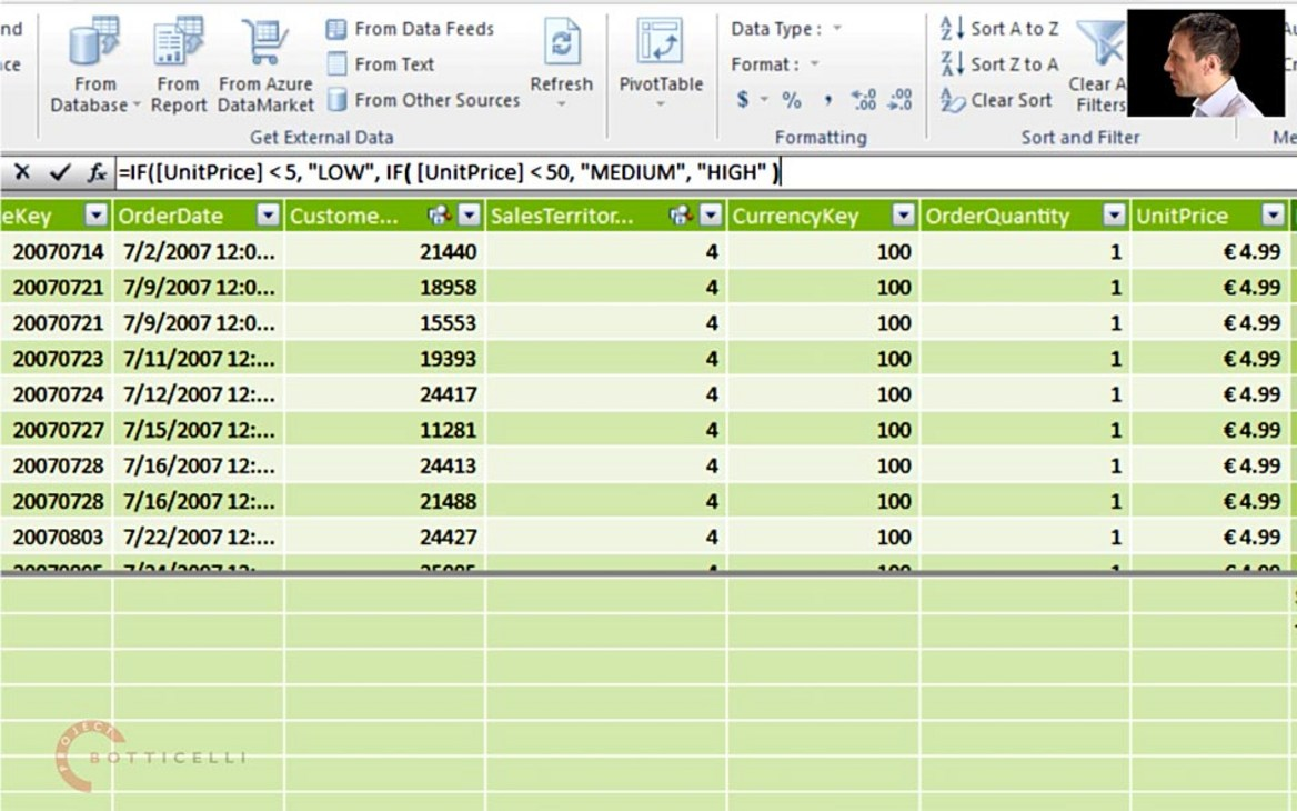 DAX Formula for Classifying Data Using a Calculated Column