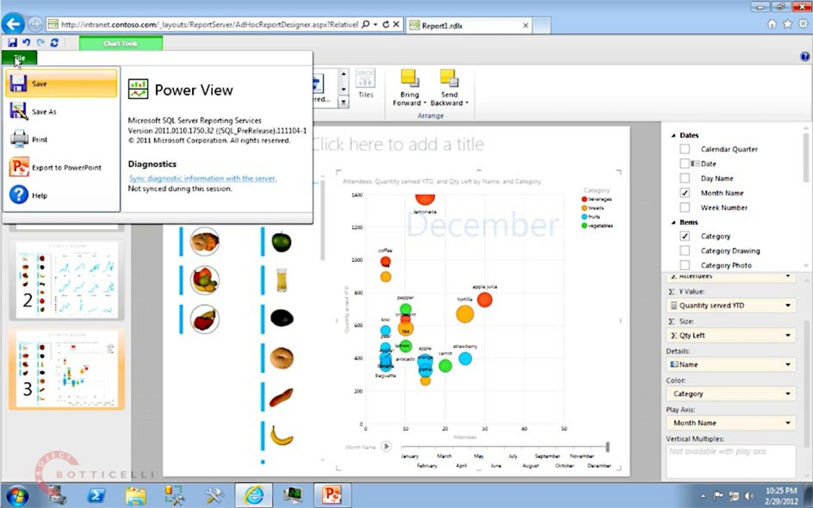 Introduction to SQL Server 2012 Reporting Services Power View