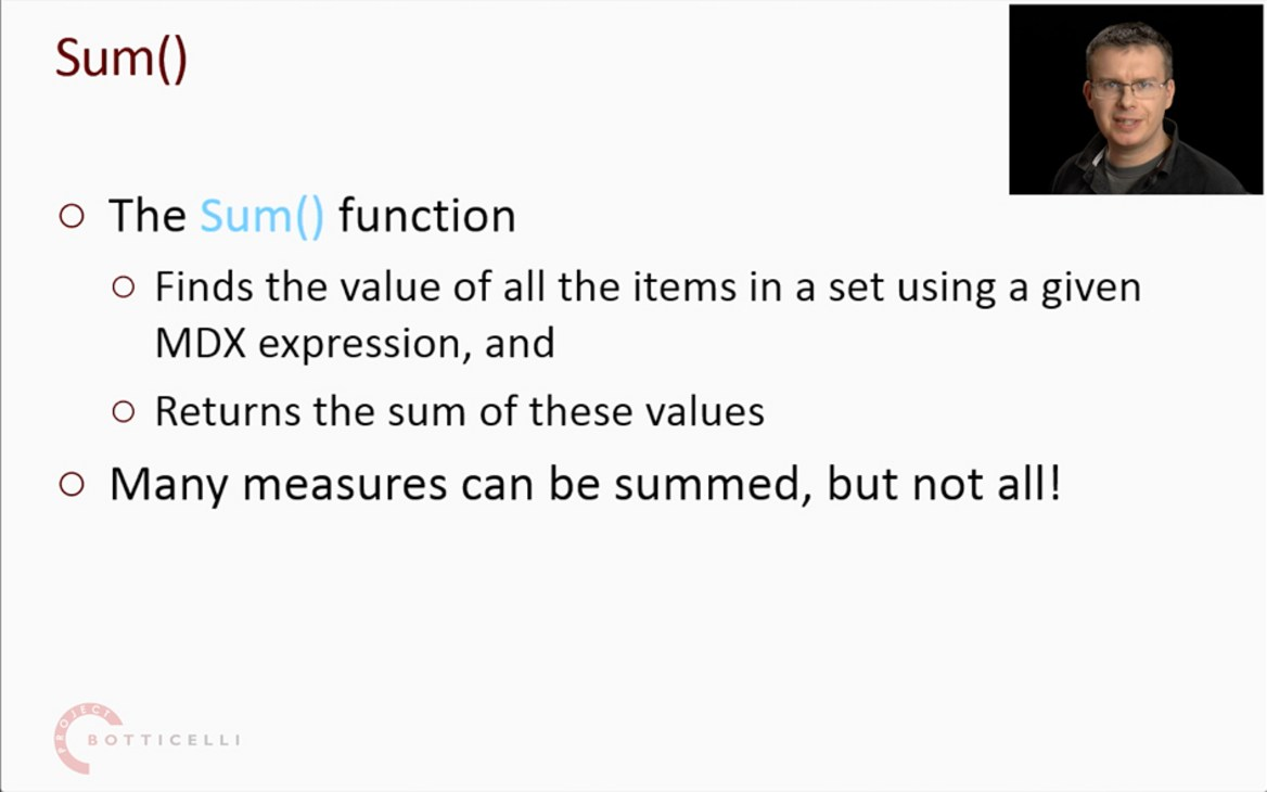 Chris Webb discuses the Sum() MDX function