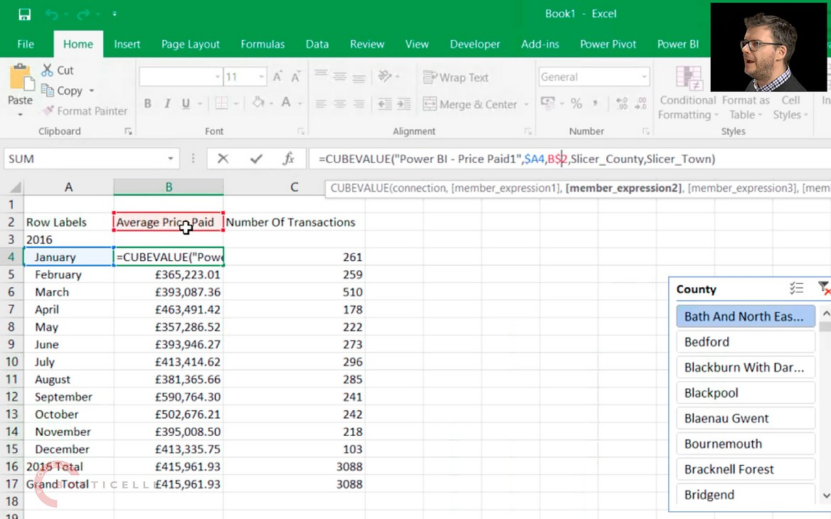 Building Reports in Excel