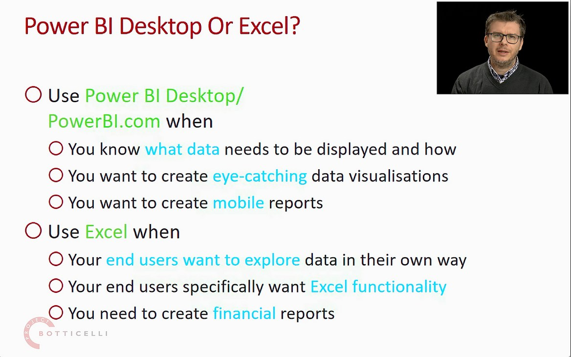 Power BI Desktop vs Excel